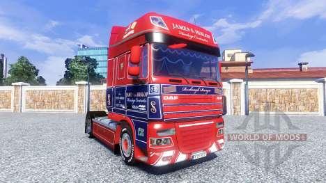 La peau de James S. Hislop pour DAF tracteur pour Euro Truck Simulator 2