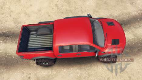 Ford Raptor SVT v1.2 red-gray für Spin Tires
