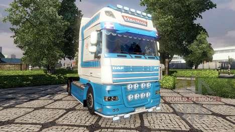 La peau VeBa Trans pour DAF tracteur pour Euro Truck Simulator 2