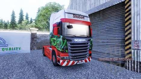 Haut Eddie Stobart ' auf der Sattelzugmaschine S für Euro Truck Simulator 2