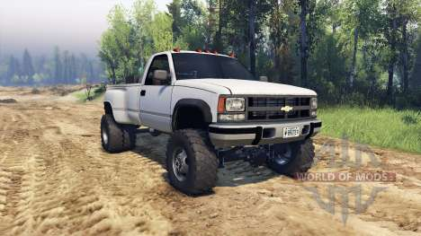 Chevrolet Regular Cab Dually white pour Spin Tires