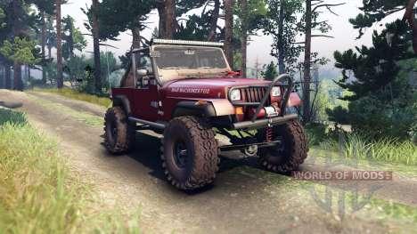 Jeep YJ 1987 Open Top maroon für Spin Tires