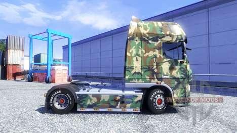 Haut Tarnmuster für DAF XF Sattelzug für Euro Truck Simulator 2