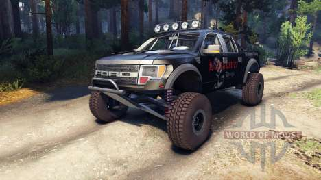 Ford Raptor Pre-Runner blackwater für Spin Tires