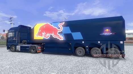 La peau de Red Bull Racing, Hochglanz sur le cam pour Euro Truck Simulator 2