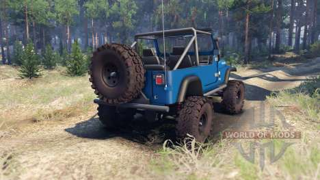 Jeep YJ 1987 Open Top blue pour Spin Tires
