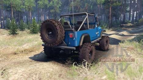 Jeep YJ 1987 Open Top blue für Spin Tires
