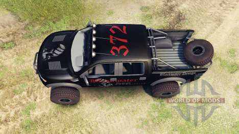 Ford Raptor Pre-Runner v1.1 blackwater pour Spin Tires