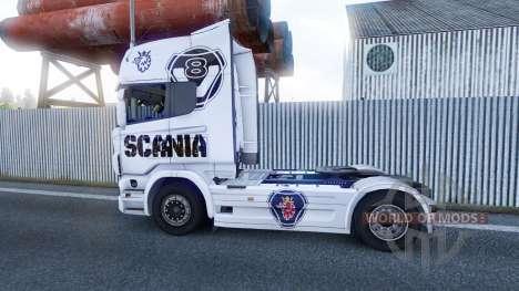 Le Scania V8 de la peau pour Scania camion pour Euro Truck Simulator 2