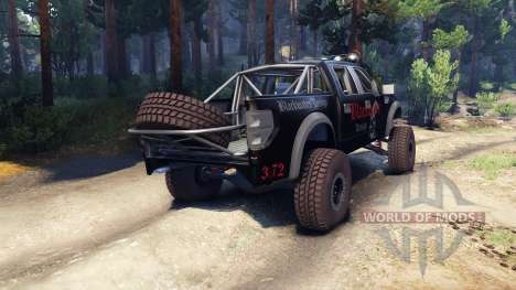 Ford Raptor Pre-Runner blackwater pour Spin Tires
