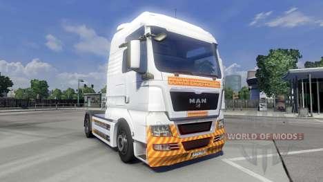 Haut Schwertransport auf dem LKW MAN für Euro Truck Simulator 2