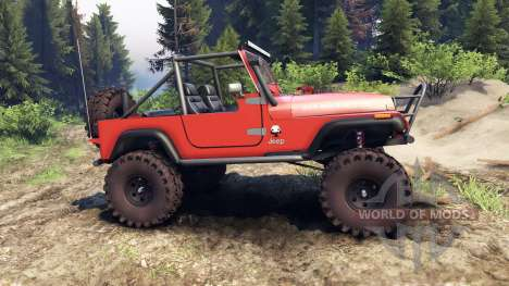 Jeep YJ 1987 Open Top orange pour Spin Tires