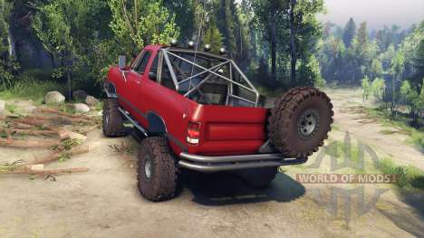 Dodge Ramcharger 1991 Open Top v1.1 blood red für Spin Tires