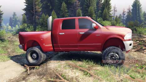 Dodge Ram 3500 dually v1.1 red für Spin Tires