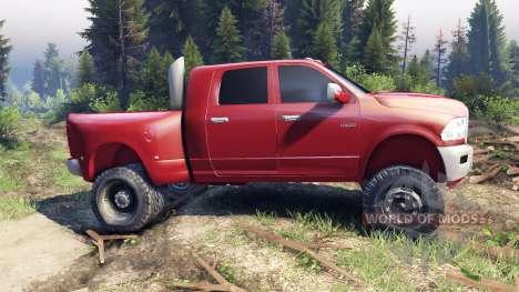 Dodge Ram 3500 dually v1.1 red für Spin Tires