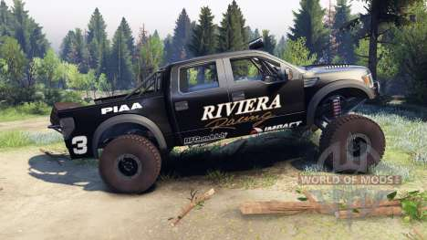 Ford Raptor Pre-Runner v1.1 riviera pour Spin Tires
