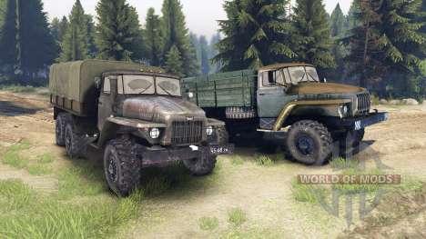Ural-375 et 4320-01 pour Spin Tires