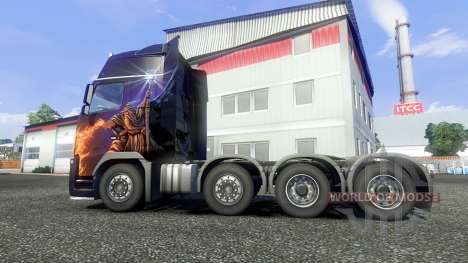 Volvo FH16 8x4 v2.0 super control für Euro Truck Simulator 2