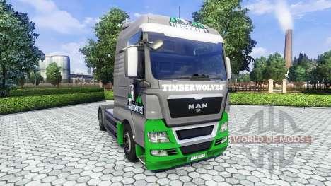 La peau TimberWolves sur le camion de l'HOMME pour Euro Truck Simulator 2