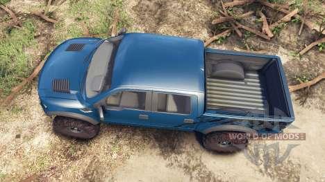 Ford Raptor SVT v1.2 factory blue flame pour Spin Tires
