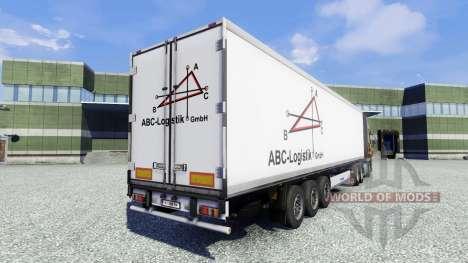 La peau ABC Logistique semi-remorque pour Euro Truck Simulator 2