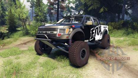 Ford Raptor Pre-Runner v1.1 fox für Spin Tires