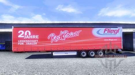 Skins sur Fliegl semi-remorques pour Euro Truck Simulator 2