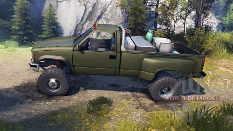 Chevrolet Regular Cab Dually green pour Spin Tires