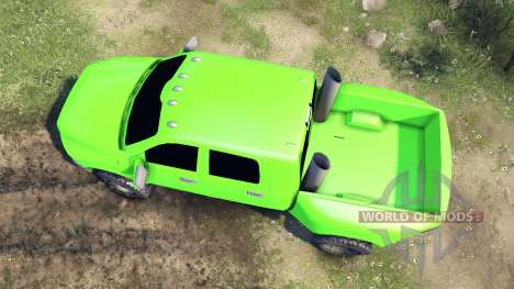 Dodge Ram 3500 dually v1.1 green pour Spin Tires