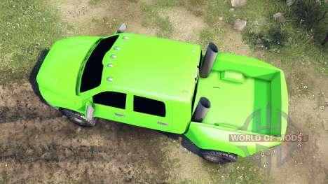 Dodge Ram 3500 dually v1.1 green für Spin Tires