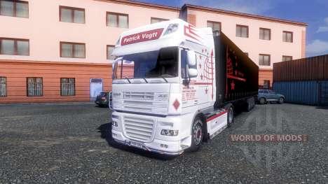 La peau de Patrick Vogtt pour DAF XF tracteur pour Euro Truck Simulator 2