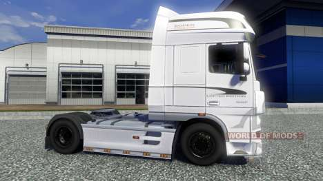 La peau Blanche de l'Édition pour DAF XF tracteu pour Euro Truck Simulator 2