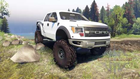 Ford Raptor SVT v1.2 factory white für Spin Tires