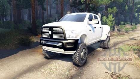 Dodge Ram 3500 dually v1.1 white pour Spin Tires