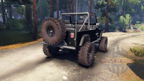 Jeep YJ 1987 Open Top black pour Spin Tires