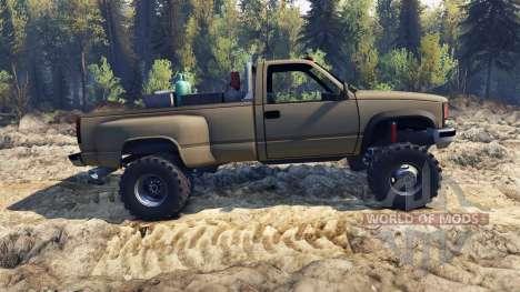 Chevrolet Regular Cab Dually tan pour Spin Tires
