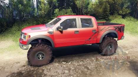 Ford Raptor SVT v1.2 factory sunset red pour Spin Tires