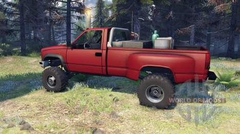 Chevrolet Regular Cab Dually red pour Spin Tires