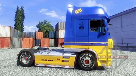 La peau IKEA pour DAF XF tracteur pour Euro Truck Simulator 2