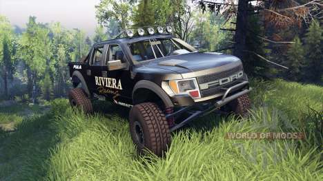 Ford Raptor Pre-Runner riviera pour Spin Tires