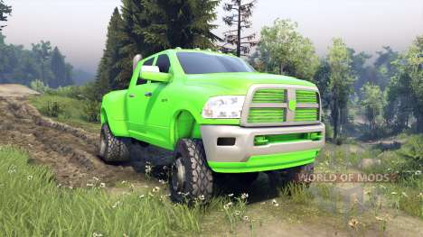 Dodge Ram 3500 dually v1.1 green für Spin Tires