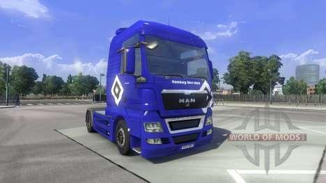Die Haut Hamburg fährt MAN auf dem LKW MAN für Euro Truck Simulator 2