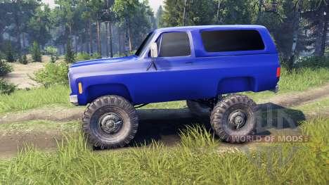 Chevrolet K5 Blazer 1975 v2.5 blue pour Spin Tires