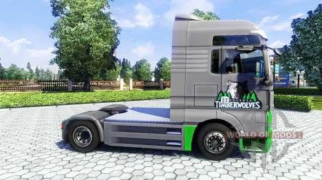 Haut TimberWolves auf dem LKW MAN für Euro Truck Simulator 2