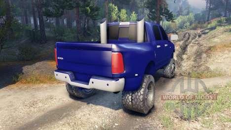 Dodge Ram 3500 dually v1.1 blue pour Spin Tires