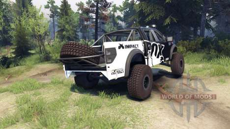 Ford Raptor Pre-Runner v1.1 fox pour Spin Tires