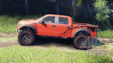 Ford Raptor SVT v1.2 factory comp orange pour Spin Tires