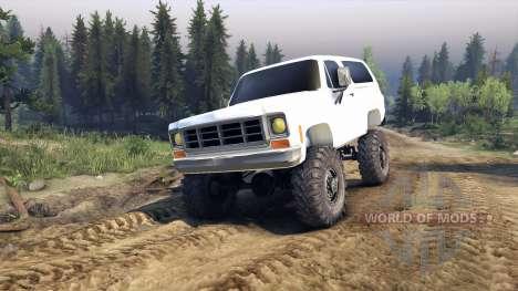 Chevrolet K5 Blazer 1975 v2.5 white pour Spin Tires