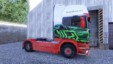 La peau d'Eddie Stobart sur le tracteur Scania pour Euro Truck Simulator 2