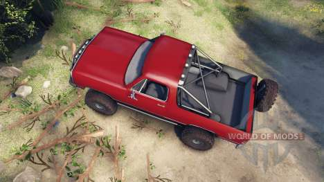 Dodge Ramcharger 1991 Open Top v1.1 blood red pour Spin Tires
